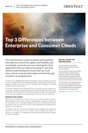 Top 3 Differences between Enterprise and Consumer Clouds