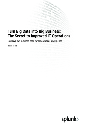 Turn Big Data into Big Business: The Secret to Improved IT Operations